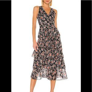 NEW TULAROSA Kyra Dress in EVENING BERRY FLORAL